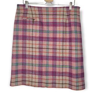 Vintage Pendleton Virgin and Lambs Wool Pink Tartan Pencil Skirt Size 14
